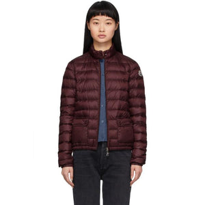Moncler Burgundy Down Lans Jacket
