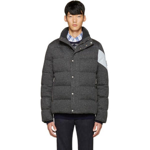 Moncler Gamme Bleu Grey Quilted Down Jacket-BlackSkinny