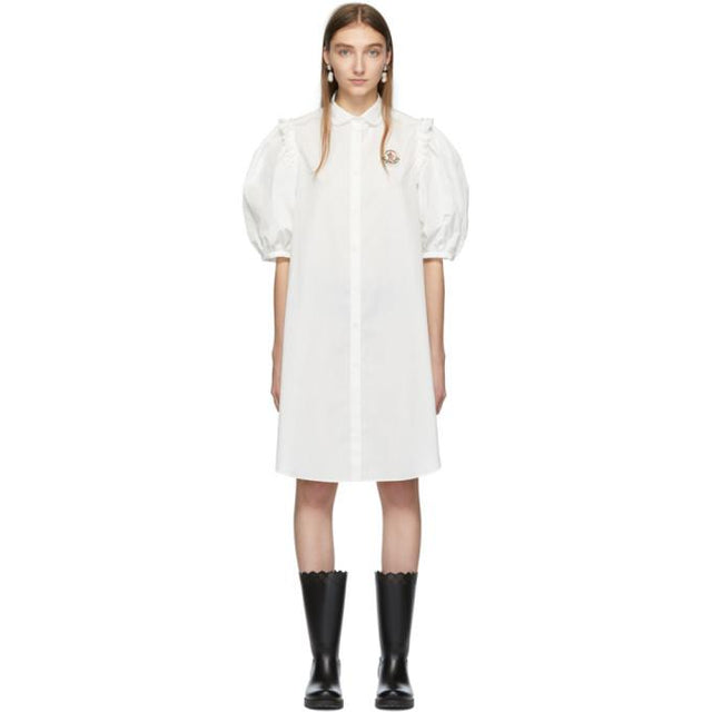 Moncler Genius 4 Moncler Simone Rocha White Shirt Dress