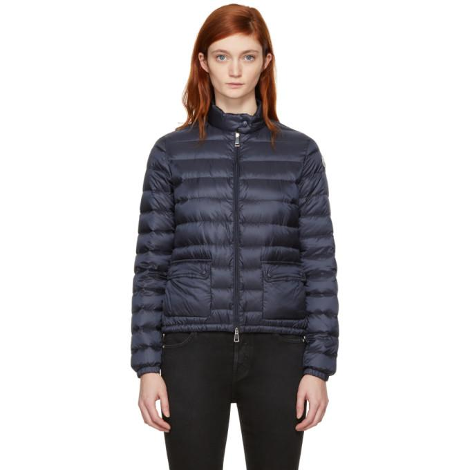 Moncler Navy Down Lans Jacket-BlackSkinny