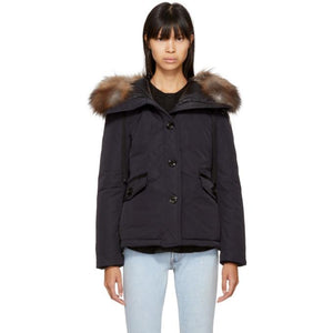 Moncler Navy Down Malus Jacket-BlackSkinny