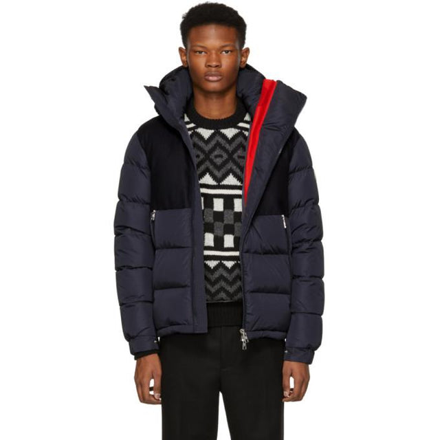 Moncler Navy Lavedan Down Jacket-BlackSkinny