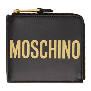 Moschino Black Zip Wallet