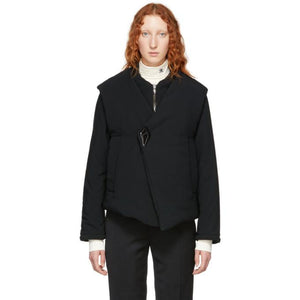 Namacheko Black Asymmetric Barbara Jacket-BlackSkinny