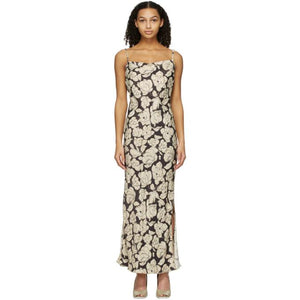 Nanushka Brown and Beige Willow Mid-Length Dress