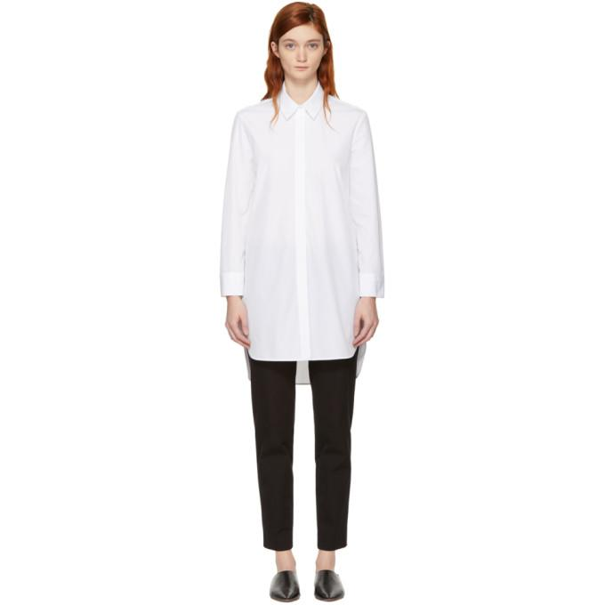 Neil Barrett White Poplin Shirt Dress-BLACKSKINNY.COM