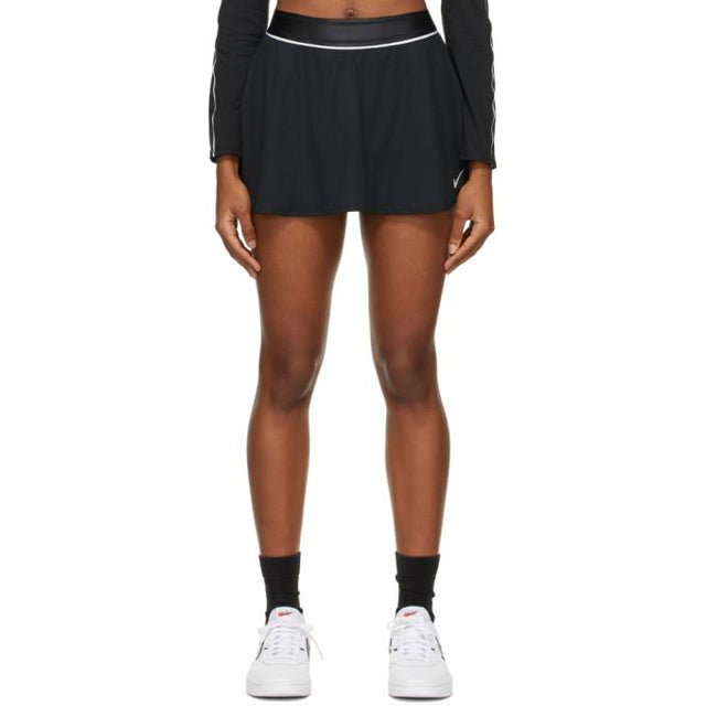 Nike Black Court Dri-FIT Flouncy Miniskirt