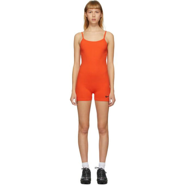 Nike Orange Sportswear Bodysuit