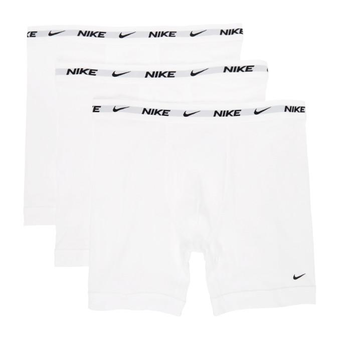 Nike Three-Pack White Cotton Everyday Boxer Briefs
