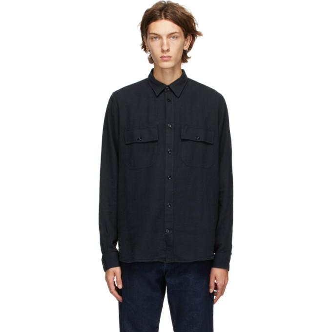 Norse Projects Navy Villads 50/50 Shirt