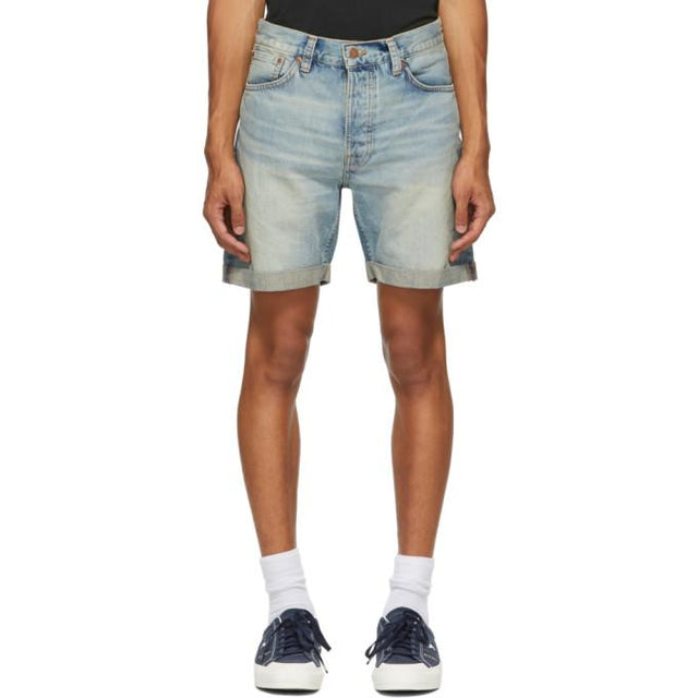 Nudie Jeans Blue Denim Josh Shorts