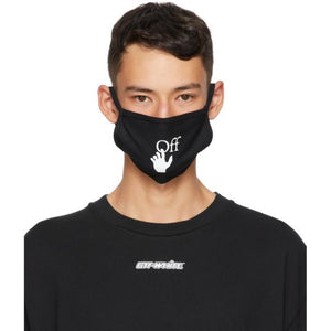Off-White Black and White Hands Off Mask