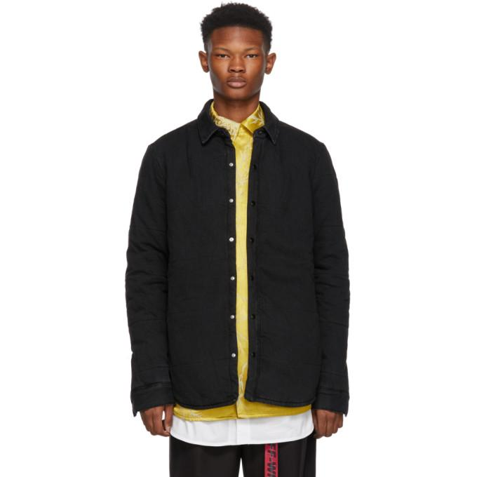 Off-White Black Denim Gradient Puffer Jacket-BlackSkinny