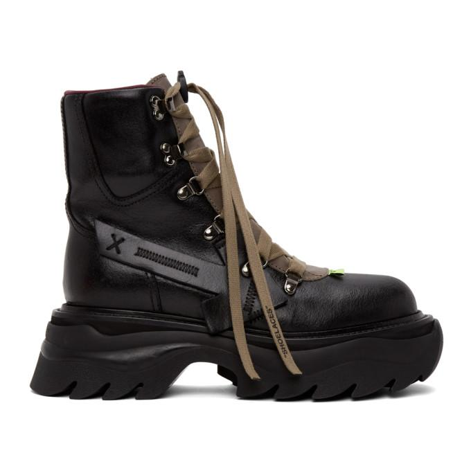 Off-White Black Equipment Platform Boots