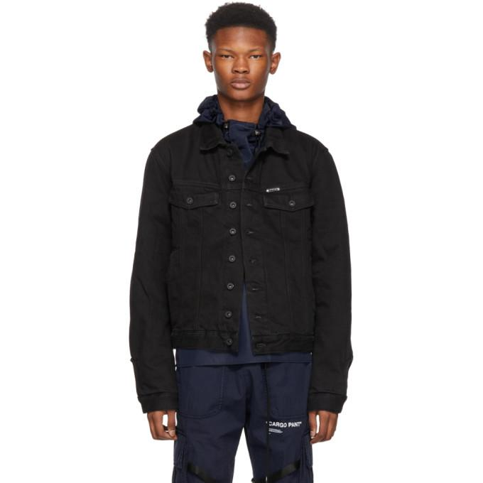Off-White Black Padded Denim Jacket-BlackSkinny