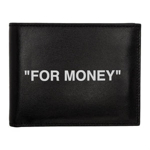 Off-White Black Quote Bifold Wallet