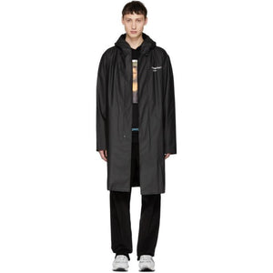 Off-White Black 'Quote' Raincoat-BlackSkinny