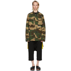 Off-White Multicolor Camouflage Field Jacket-BlackSkinny
