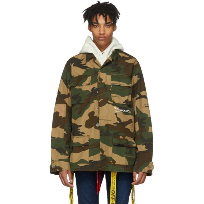 Off-White Tan Camo Field Jacket-BlackSkinny