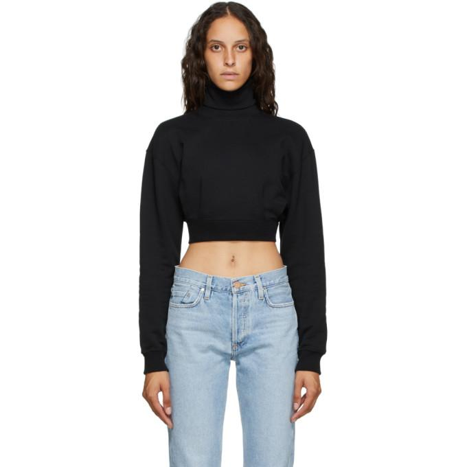 Opening Ceremony Black Self-Tie Cropped Turtleneck