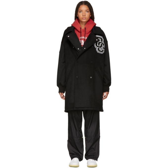 Opening Ceremony Black Wool Varsity Coat-BlackSkinny