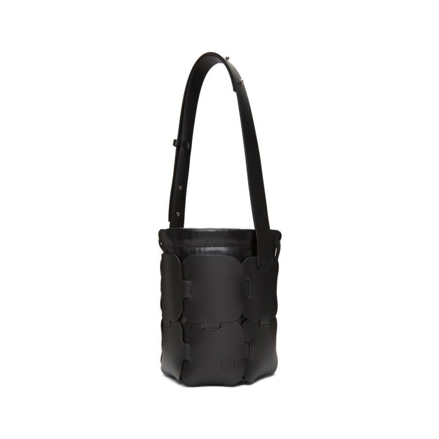 Paco Rabanne Black Small Calfskin Hobo Bag-Bags-BLACKSKINNY.COM