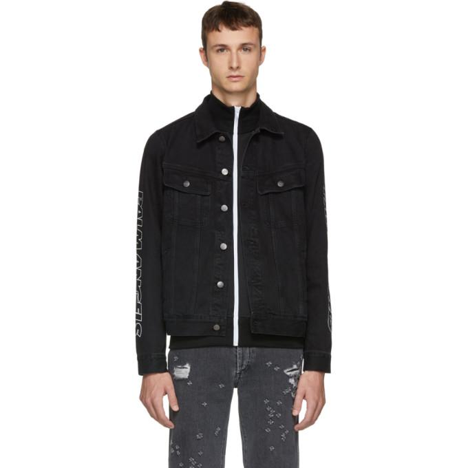 Palm Angels Black Classic Denim Jacket-BlackSkinny