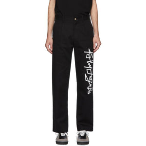 Palm Angels Black Desert Logo Trousers