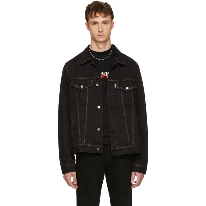 Palm Angels Black Playboi Carti Edition Denim 'Die Punk' Jacket-BlackSkinny