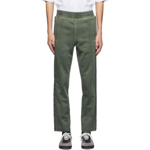 Palm Angels Green Garment-Dyed Track Pants