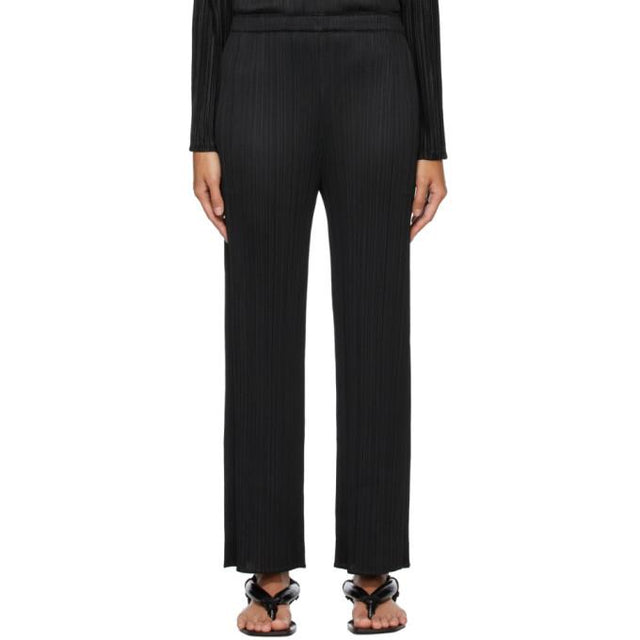 Pleats Please Issey Miyake Black Echo Trousers