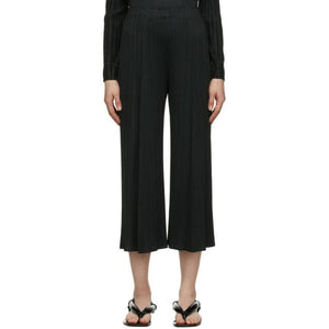 Pleats Please Issey Miyake Black Monthly Colors October Trousers