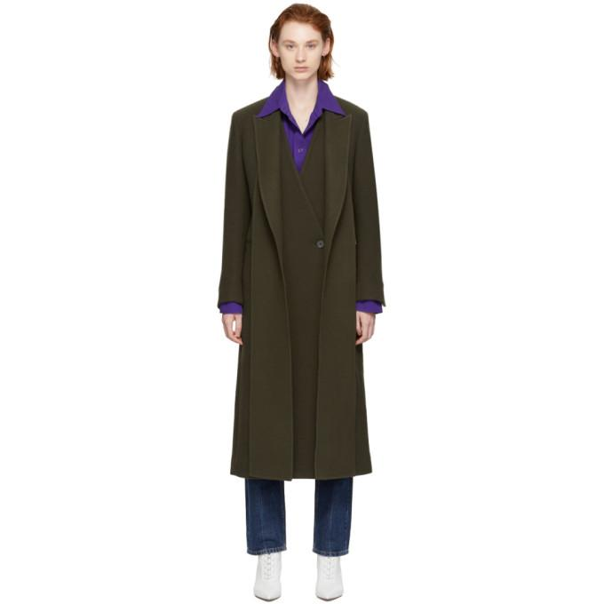 Ports 1961 Khaki Layered Overcoat-BlackSkinny
