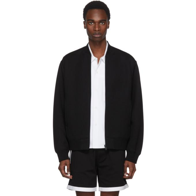 Prada Black Jersey Tech Bomber Jacket-BlackSkinny