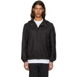 Prada Black Nylon Hooded Zip Jacket-BlackSkinny