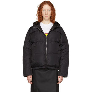 Prada Black Short Zip Puffer Jacket-BlackSkinny