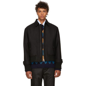 Prada Black Zip-Up Jacket-BlackSkinny