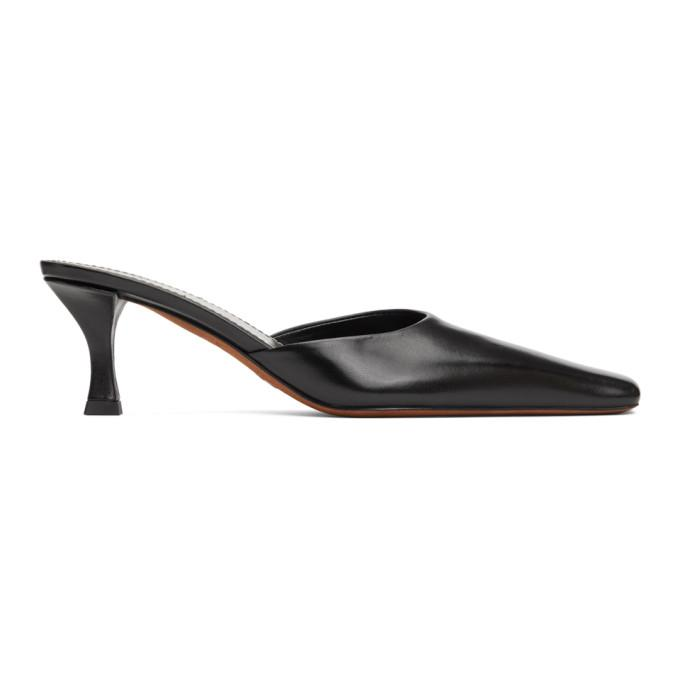 Proenza Schouler Black Slip-On Heels