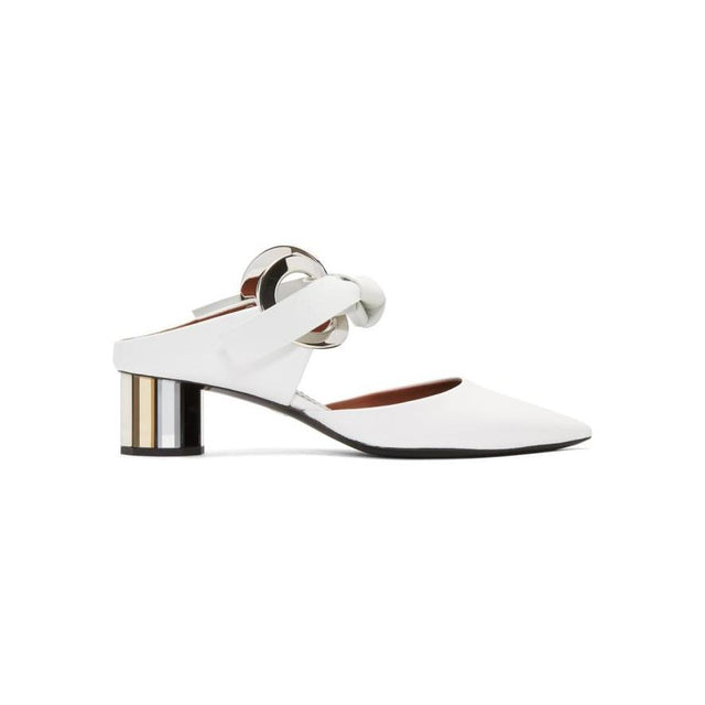 Proenza Schouler White Grommet Ring Mirror Pumps-BLACKSKINNY.COM