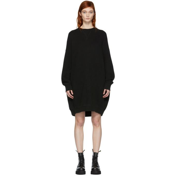 R13 Black Grunge Sweatshirt Dress-BLACKSKINNY.COM
