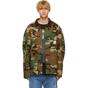 R13 Green Camo Workman Jacket-BlackSkinny
