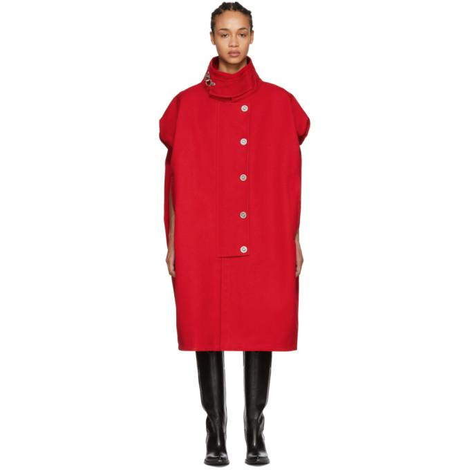 Raf Simons Red Sleeveless Couture Coat-BlackSkinny