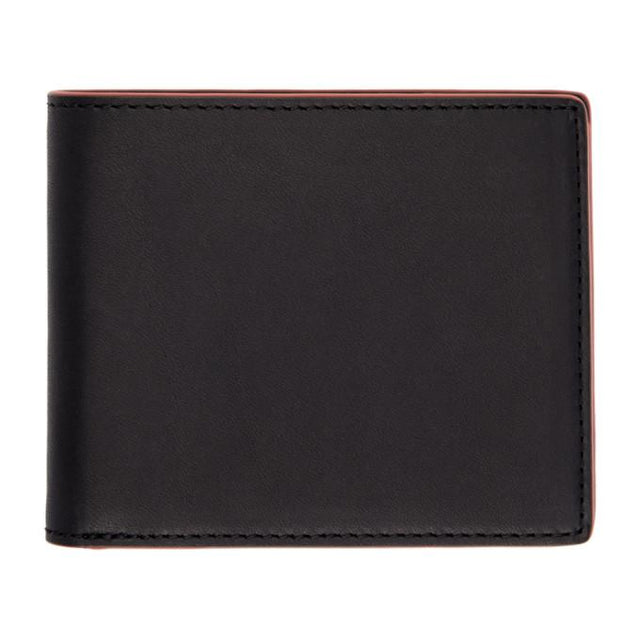rag and bone Black and Red Hampshire Bifold Wallet