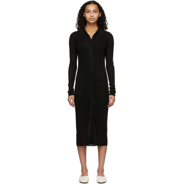 rag and bone Black Button-Down Pacey Dress