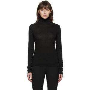 rag and bone Black Organic Cotton Gaia Turtleneck
