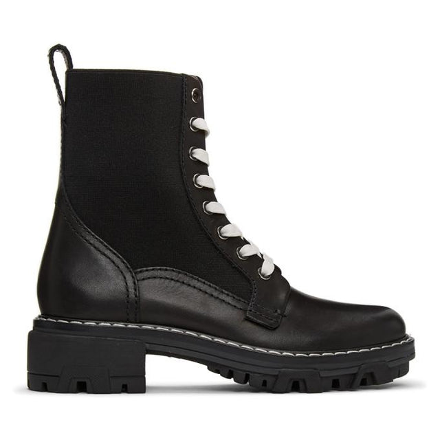 rag and bone Black Shiloh Boots
