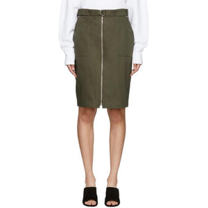 Rag & Bone Green Lora Skirt-BLACKSKINNY.COM