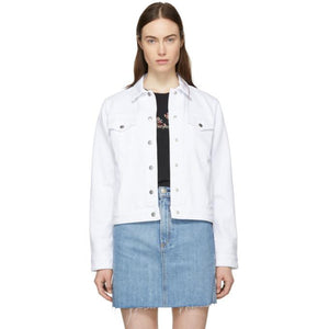 Rag & Bone White Nico Denim Jacket-BlackSkinny