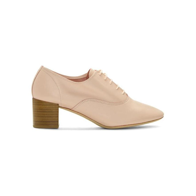 Repetto Pink Heeled Oxfords-BLACKSKINNY.COM