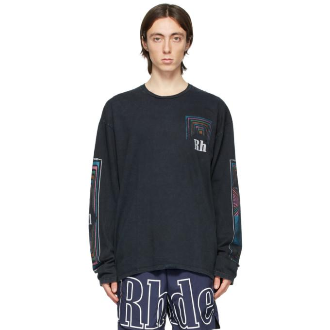 Rhude Black Box Perspective Long Sleeve T-Shirt